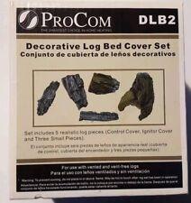 NEW ProCom Decorative Log Bed Cover Set - DLB2 Gas Fire Logs Cover Set Fireplace