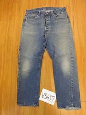 Vintage 1980s Levi transitional Black Bar Usa jean tag 36x31 meas 32x28.5 V5637