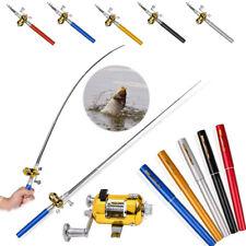 Portable Mini Pocket Fish Pen Shape Aluminum Alloy Fishing Rod Pole and Reel