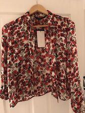 Gorgeous Silk Floral Shirt Zara, Size S UK 8, 10 BNWT!