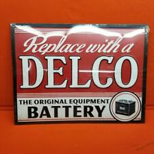 AC Delco Battery  Tin Sign Vintage Style