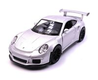 Porsche GT3 Rs Sports Car Model Car Car Silver Scale 1:3 4 (Licensed)