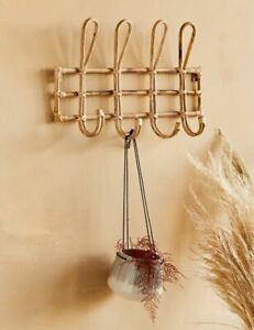 Madame Stoltz Bamboo Coat Hook Rack, Brand New with Tags