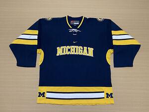 Nike Michigan Wolverines Jersey Mens ~ Size Large ~ NCAA Ice Hockey Team Sewn