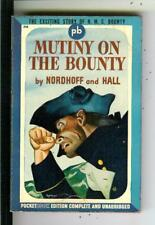 MUTINY ON THE BOUNTY by Nordhoff &, Pocket #216 1st sea story pulp vintage pb