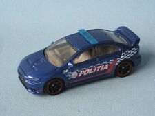 Matchbox Mitsubishi Lancer Evolution X Evo Politia Police Blue Toy Model Car