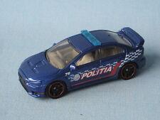 Matchbox Mitsubishi Lancer Evolution X Evo Politia Police Blue Toy Model Car
