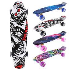"""LED Skateboard 22""""zoll Pennyboard Komplett Funboard Longboard Kickboard CAROMA"""