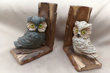 Resin Owl Bookends