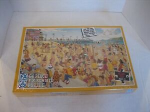 Vintage FX Schmid What's Wrong at the Beach 64 Piece Puzzle 13 1/2 x 8 3/4 NWIP
