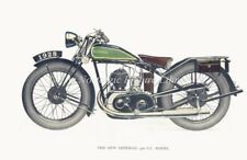 PRINT of VINTAGE MOTOR CYCLE NEW IMPERIAL 500cc.   c1928