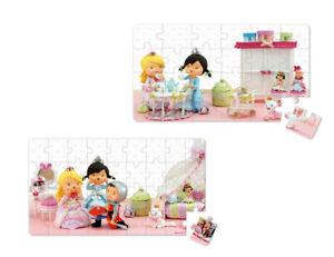 Janod Puzzle Box Prinzessin Rose 2 verschiedene Motive 24 bis 36 Teile J02770