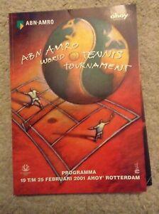 2001 ABN-AMRO World Tennis Tournament Programme: Mens Tennis: ATP