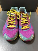 Newton Purple Yellow Trainers Womens Running Shoes Size 6 (P575)