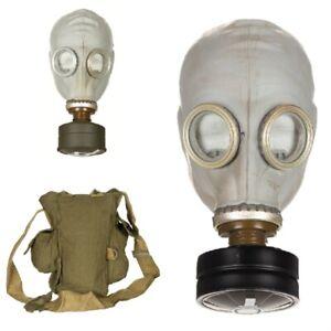 Russ. Schutzmaske GP 5 grau Gasmaske ABC Schutz Militär Atemschutz Tasche Filter