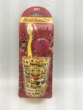 Brush Buddies Kids Toothbrush Set Emoji The Iconic Brand Soft Brush, Cap, Cup