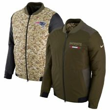 New England Patriots 2017 NFL Salute to Service Reversible Bomber Jacket, XLarge