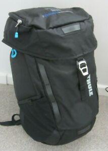 Thule Sweden Crossover Commuter Laptop Backpack Bag 25L Black Nylon Pockets