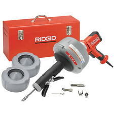 RIDGID K-45AF-7 (36008) Sink Machine w/ C-1IC, C-6, C-21, Tools, Case