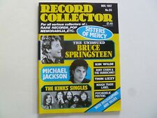 RECORD COLLECTOR - November 1987 Issue 95 - 131pp - Bruce, Michael Jackson - VG