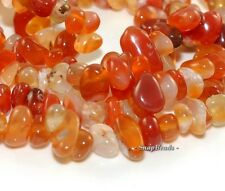 """CARNELIAN RED AGATE GEMSTONE CHIP 13X5MM LOOSE BEADS 16"""""""