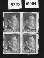 MNH Adolph Hitler stamp block / 2GR / 1941 issue / Third Reich / Occupied Poland