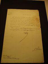 Hartig  governatore austriaco di Milano lettera con Autografo e sigillo 1832