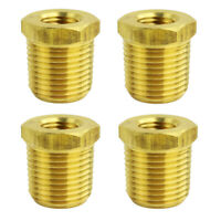"Four 1/2"" MNPT x 1/4"" FNPT Solid Brass Bushings Reducer Fitting Reducing Adapter"