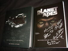 Planet of the Apes hardcover book signed in silver by 2 authors & 4 cast members