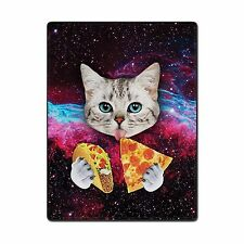 TSlook 40x50 Blankets Funny Cat Starry Pizza Eat Beautiful Gorg... Free Shipping