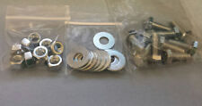 1/4-20X3/4 HEX BOLTS W/ WASHERS AND NUTS ZINC FINISH 10 OF EACH COURSE THREAD