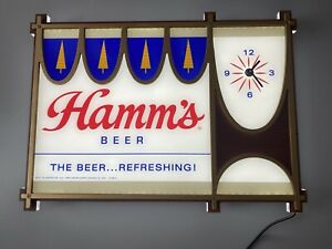 Hamm's Beer Vintage-Style Lighted Clock Sign