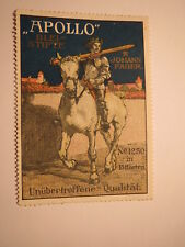 Johann Faber - Apollo - Bleistifte No. 1250 in 15 Härten - Pferd / Reklamemarke