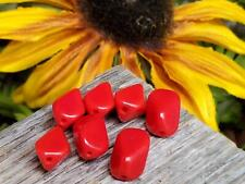 Vintage Glass Beads ~German Opaque Red Sliding Diamond Shape For Jewelry Making