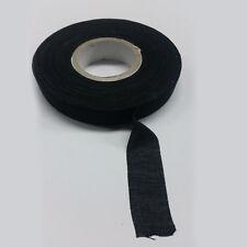 Cinta textil negra para proteger cableados de motor... 1 rollo 25metros x 19 mm.