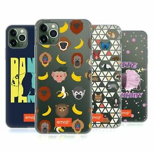 OFFICIAL emoji® MONKEYS AND ANIMALS GEL CASE FOR APPLE iPHONE PHONES