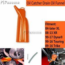 Orange Motorcycle Oil Catcher Drain Oil Funnel For Harley 08-13 XR 99-17 Dyna