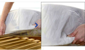 MATTRESS PROTECTOR COVER FITTED WATER RESISTANT DOUBLE BED SHEET KIDS ELDERLY