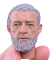 "1/6 Male Obi-Wan Head Sculpt Model Fit 12"" Action Figure Body Model Doll"