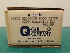 Q Car Co. O Scale Trolley Brooklyn 8000 Peter Witt DS115 Finishing Kit