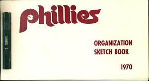 Rare 1970 Philadelphia Phillies Baseball Organization Sketch Book