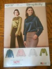 SIMPLICITY SEWING PATTERN K 8737 H5  SIZE US. 6 - 14 TOPS
