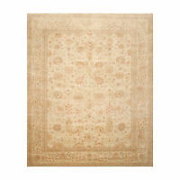 8' x 9'10'' Hand Knotted 100% Wool Peshawar Traditional Oriental Area Rug Beige
