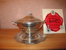POTSTAINIERS HUTOIS *NEW* Soupière 26 cm + assiette 24 cm 1900 étain pur 94% tin