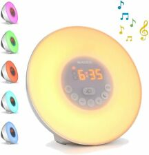 Sunrise Alarm Clock Radio Wake Up Light Digital FM Natural Bedroom Bluetooth