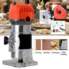 110V 800W 1/4' Electric Hand Trimmer Wood Laminator Router Joiners Tool Set