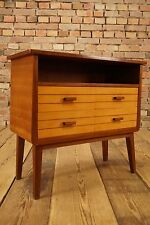 1950s Mid Century Mini SIDEBOARD Side table Telephone cabinet Dresser 60s Nut