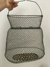 Maillinox Vintage French Collapsible Metal Wire Fish Basket Net Creel