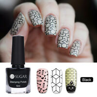 6ml UR Sugar Nail Art Stamping Polish Nails Black Plate Stamp Printing Varnish