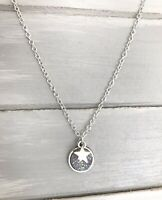 "Silver Star & Sparkly Druzy Wish Silver Plated 18"" Necklace New in Gift Bag"
